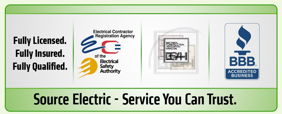Hamilton Electrician - Fully Licensed. Fully Insured. Fully Qualified ECRA/ESA ECAH BBB